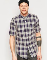 Asos Check Shirt With Short Sleeves In Regular Fit