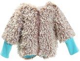 Zutano Furry Zipper Jacket (Baby) - Chocolate-18 Months