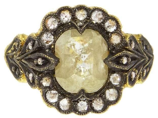 Cathy Waterman Mysterious Lake Rose Cut Ring