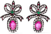 Gucci Felt, Crystal And Bead Earrings - Black
