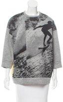 No.21 No. 21 Contrasted Graphic Print Sweatshirt