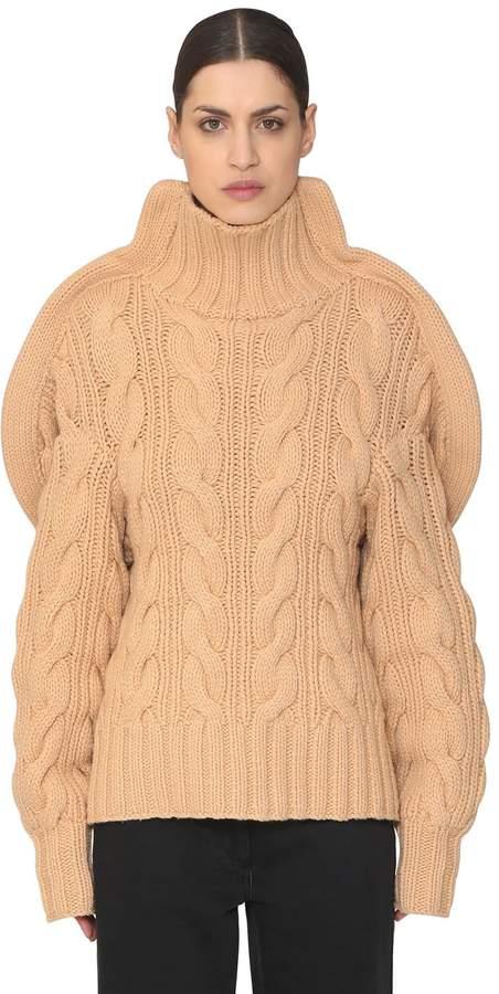 3d Handmade Wool Knit Turtleneck Sweater