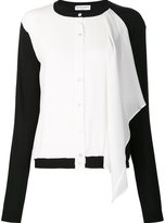 Vionnet contrast sleeve ruffled shirt