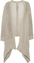 Rick Owens Draped open-knit cardigan