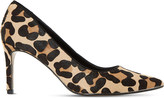 Dune Abbigail leopard-print court shoes