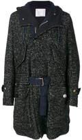 Sacai oversized hooded coat