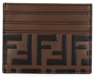 Fendi FF Embossed Leather Card Case