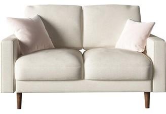 """BEIGE Sunderland Velvet 50.4"""" Square Arm Loveseat Zipcode Design Upholstery Color"""