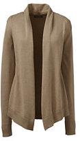 Classic Women's Plus Size Cotton Modal Open Drape Cardigan-True Blue