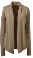 Classic Women's Regular Cotton Modal Open Drape Cardigan-True Blue