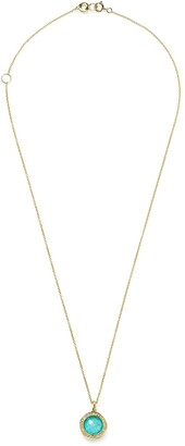 Ippolita 18kt yellow gold Lollipop turquoise and diamond small pendant necklace