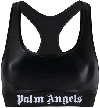 Palm Angels Classic Logo Sports Bra Black White