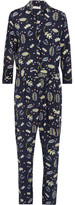 Chinti and Parker Printed Silk-blend Crepe De Chine Jumpsuit - Midnight blue