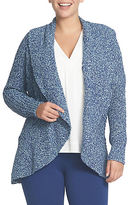 Chaus Drape Front Cable Stitch Cardigan