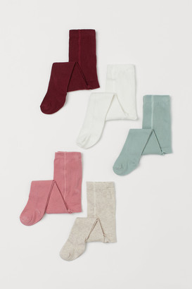 H&M 5-pack Fine-knit Tights