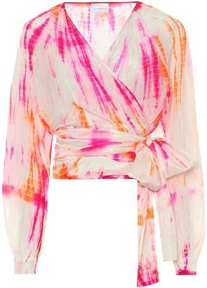 Anna Kosturova Exclusive to Mytheresa Tie-dye silk blouse