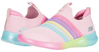 Skechers Sport - Ultra Flex Brightful Strides (Little Kid/Big Kid) (Pink Multi) Girl's Shoes