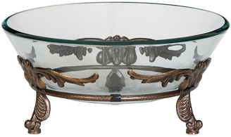 Uma Enterprises New Traditional Iron & Glass 15In Winged Scroll Bowl Server