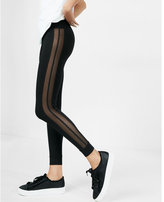 Express high waisted side mesh legging