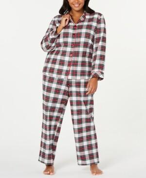 Family Pajamas Matching Plus Size Stewart Plaid Family Pajama Set, Created for Macy's