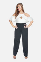 Fashion to Figure Theo Cold Shoulder Color Block Jumpsuit