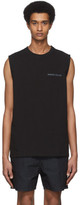 Robert Geller SSENSE Exclusive Black Logo Sleeveless T-Shirt