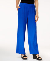 JM Collection Crinkled Pull-On Pants, Only at Macy's