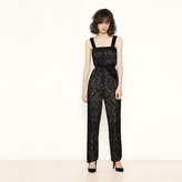 Maje Lace jumpsuit with flocking