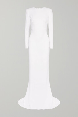 STELLA MCCARTNEY - Open-back Stretch-crepe Gown - White