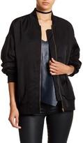 Do & Be Do + Be Shirred Sleeve Bomber Jacket