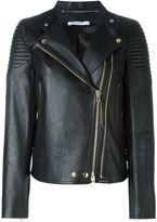 Givenchy classic biker jacket - women - Lamb Skin/Acetate/Viscose - 36