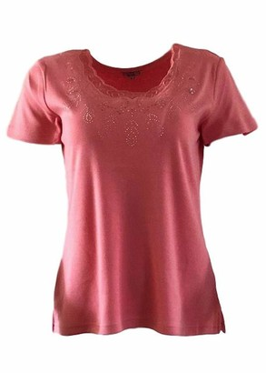 Unknown Text Stud Detail T-Shirt (Large