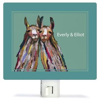 Oopsy Daisy Fine Art For Kids Llama Love by Eli Halpin Night Light Customize: Yes