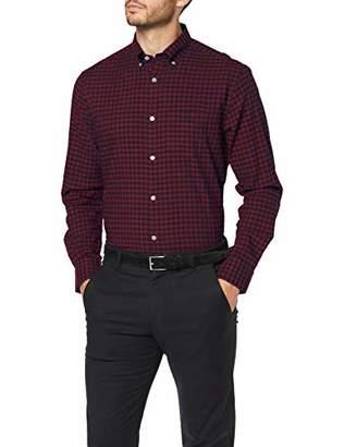 Gant Men's D1.Winter TWI Buffalo Check REG BD Casual Shirt, (Port RED 605), S