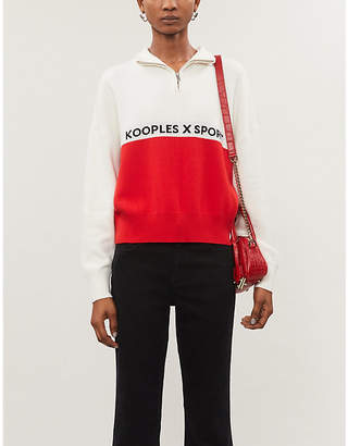 The Kooples High-neck relaxed-fit knitted jumper