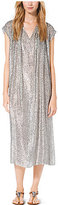 Michael Kors Metallic Velour Fil Coupe Caftan