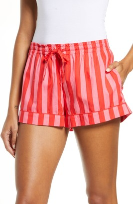 ban.do Stripe Tie Waist Shorts
