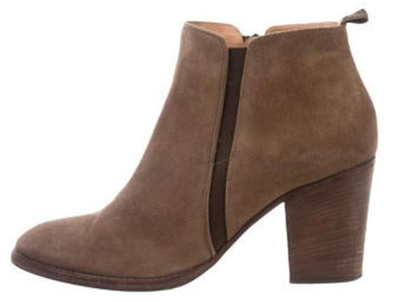 Aquatalia Suede Ankle Boots Brown Suede Ankle Boots