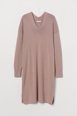 H&M Fine-knit Dress - Pink