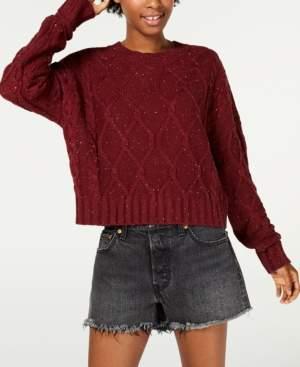Ultra Flirt Juniors' Cable-Knit Sweater