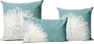 Liora Manné Embossed Flower Decorative Pillow