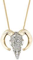 Alexis Bittar Crystal Ram Pendant Necklace