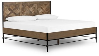 Pottery Barn Parquet Reclaimed Wood Bed