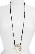 Knotty Long Beaded Pendant Necklace