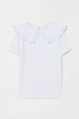 H&M Collared jersey top