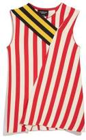 Calvin Klein Striped Sleeveless Flag Top