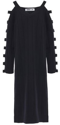 McQ Cutout Wool And Cashmere-blend Midi Dress