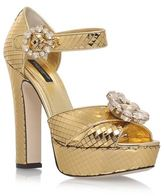 Dolce & Gabbana Bianca Platform Sandals