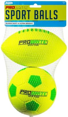 Franklin Mini Probrite Foam Football & Soccer Ball