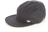Maison KitsunÉ Logo-embroidered Wool-blend Baseball Cap
